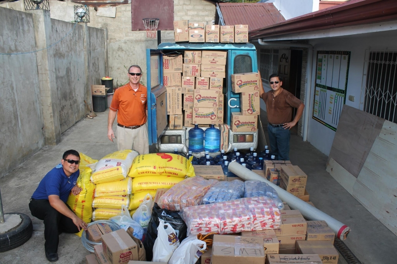 Our First Relief Shipment